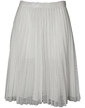 Calvin Klein Mesh A Line Skirt in White