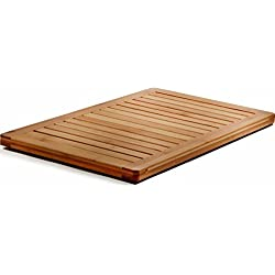 Bamboo Bath Mat Shower Floor Mat Non Slip, Made of 100% Natural Bamboo, By Bambusi