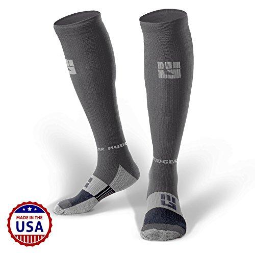 MudGear Premium Compression Socks - Mens & Womens running hiking trail (1 (Ski Race Boot)