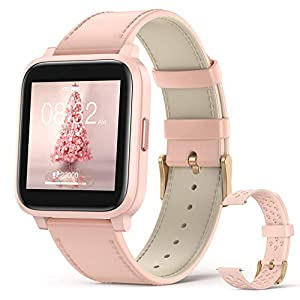 Hommie Smart Watch,1.3″ Full Touch Screen Men Women Fitness Tracker, IP68 Waterproof,8-10 Days Battery Life,17 Sports Modes, with Heart Rate and Sleep Monitor, Best Gifts for Girl and Friend