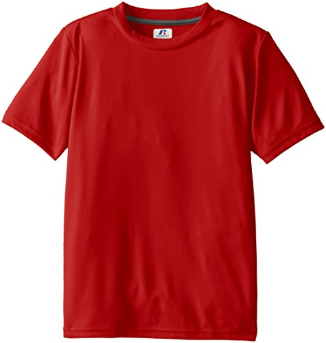 Russell Athletic Boys' Youth Short Sleeve Performance Tee, True Red, X-Large (Shorts Russell Athletic Jersey)