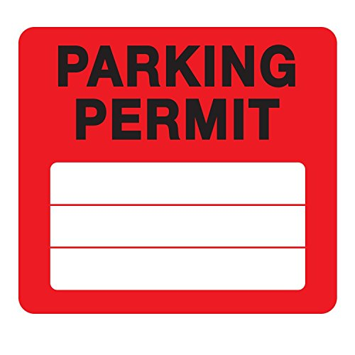 Parking Permit Pass Stock Static Cling Windshield Sticker Non-Adhesive for Employees, Tenants, Students, Businesses, Office, Apartments, by Milcoast, 10 Pack - Parking Permit Decals