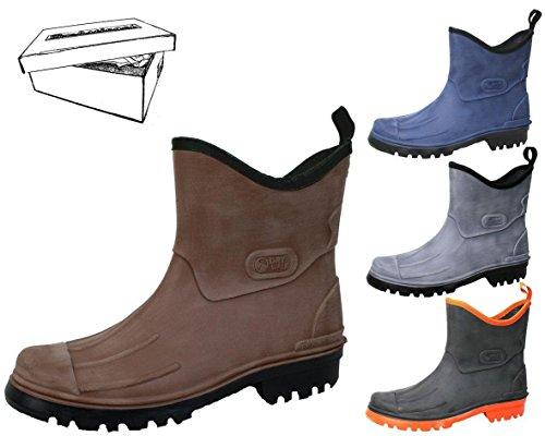 BOCKSTIEGEL LUTZ Stivali Scarpe grey Dimensioni gomma Uomo 46 pioggia Sguardo di spazzolato 41 Stivaletti di gomma BXXqxdrT