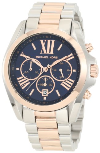 Michael Kors - Mid-Size Bradshaw Chronograph Watch, Silver-Color/Rose Golden - - Kors Find Michael