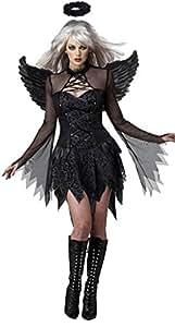 Aimerfeel-Women clásico del ángel caído Cosplay vestido con alas Lady's realizar disfraces de Halloween, disfraces y fiesta de Navidad, un tamaño colocar 34-36