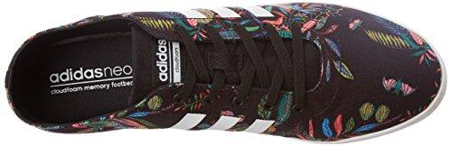 Adidas Cloudfoam Qt Vulc W, Scarpe da Ginnastica Donna, Nero (Negbas/Ftwbla/Negbas), 38 EU