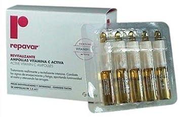 Repavar Active Vitamin C Ampoules, 20 Ampoules 1.5 Ml.