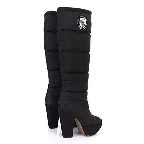 Pull Black Boots COOLCEPT On Women ZBqSxw7