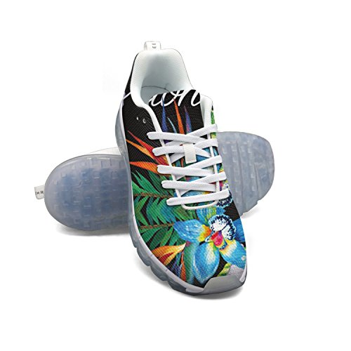 Faaerd Aloha Tropiske Blomster-01 Mænds Åndbar Mesh Luftpude Afslappet Mode Sneakers RFfuaoa9l