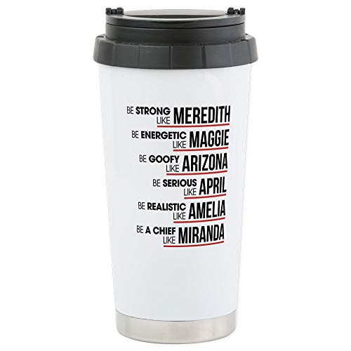 CafePress Be Strong Like Me Stainless Steel Travel Mug, Insulated 16 oz. Coffee Tumbler