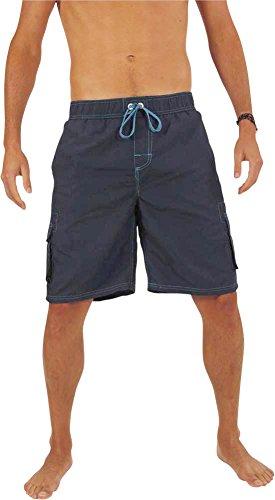 Norty+Swim+-+Mens+Swim+Suit%2C+Navy%2C+Turquoise+39956-Small