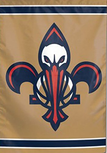 NBA New Orleans Pelicans Garden Flag 12.5 x 18 inches double