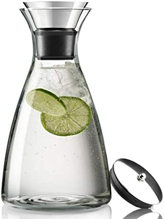 耐熱ガラス冷水ボトル家庭用水ボトル大容量ティーポットジュースポット防爆ケトル1ポット2カップ QDDSP (Color : 8×22.5×12.1cm)