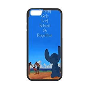 """FOR Apple Iphone 6,4.7"""" screen Cases -(DXJ PHONE CASE)-Ohana Means Family - Lilo & Stitch Quotes-PATTERN 15"""