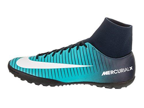 Nike Mercurialx Victory VI DF TF, Scarpe da Calcio Uomo Blu (Obsidian/Bianco/Gamma Blu/Gamma Blu 404)