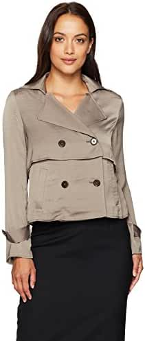Ellen Tracy Women's Petite Soft Cropped Trench