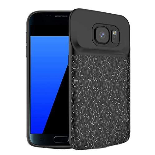 Battery Case for Galaxy S7, FNSON 4700mAh Portable Protective Charging Case Extended Rechargeable Battery Pack Charger Case Compatible with Samsung Galaxy S7 (Black)