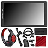 FEELWORLD F570 5.7'' IPS Full HD On-Camera Monitor - Deluxe Accessory Bundle with Battery and Charger + Magic Arm & More