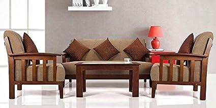 Lifestyle Solutions Zikra S Oak Wood 3 1 1 Seater Sofa Set