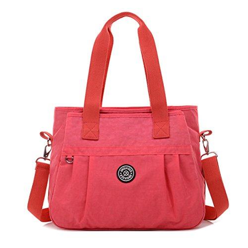 Tiny Chou Bolso cruzado, resistente al agua, nailon, bolsa con correa de hombro desmontable Rosa - rosa