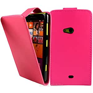 Hot Rosa PU Flip Funda Cuero Case Para El Nokia Lumia 625