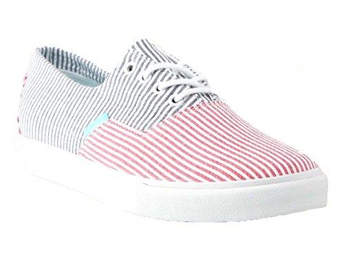 Diamant Et Approvisionnement Co. Mens Seersucker Diamant Coupe Sneakers-rouge / Bleu