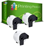 Printing Pleasure Kit 3 DK-22205 62mm x 30.48m Etichette adesive continuo compatibile per Brother P-Touch QL-500/QL-550/QL-560/QL-570/QL-700/QL-710W/QL-720NW/QL-1050/QL-1060N, bianco