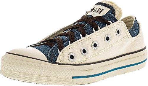 Converse Chuck Taylor All Star Plaid (Converse Women's Chuck Taylor Double Upper Oxford Parchment Plaid Ankle-High Canvas Fashion Sneaker - 5M)