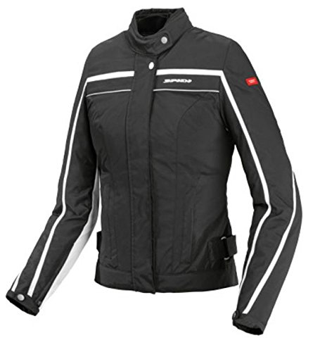 Spidi Sport S.R.L. T165-011-X Ladies Street Tex Jacket , Distinct Name: Black/White, Gender: Womens, Primary Color: Black, Size: XL, Apparel Material: Textile by Spidi