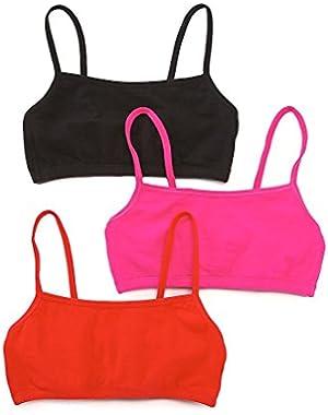 Women's Cotton Pullover Sport Bra(Pack of 3)