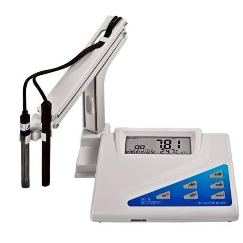 Sper Scientific Benchtop Water Quality Meter, 0 to 14 pH Range, +/- 0.02 Accuracy, 0.01 Resolution