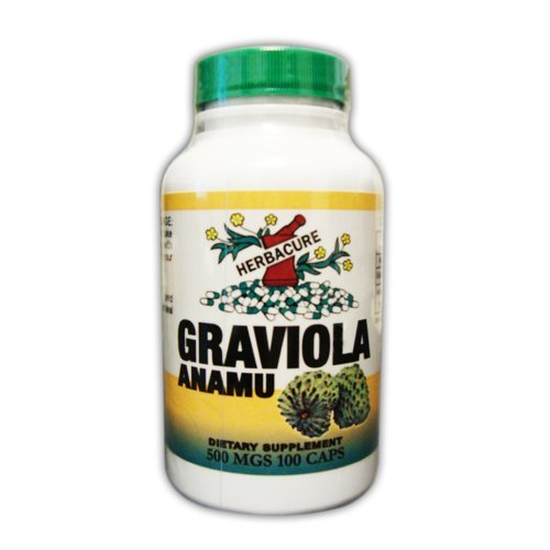Graviola and Anamu 100 Capsules From Herbacure 100% Natural by Herbacure