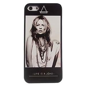 El caso duro del diseño mujer aluminio para el iphone 5 / 5s