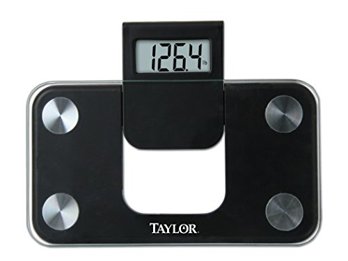 - Taylor Precision Products Digital Glass Mini Scale with Expandable Readout, Black
