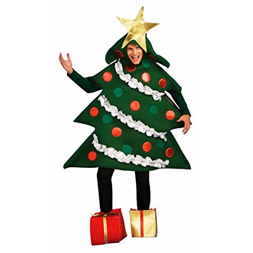 Rubie's Women's Standard Christmas Tree Jumper Costume with Present Boot Tops, As As Shown, -