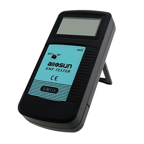 allsun Digital EMF Tester Electromagnetic Radiation Meter Electromagnetic Field Wave Detector Magnitude Detector Handheld LCD Household Dosimeter by allsun