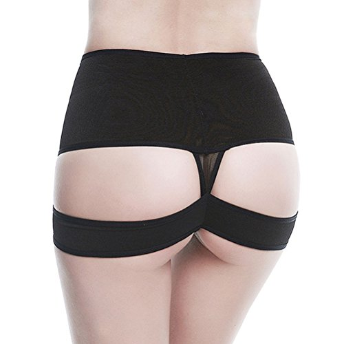 Zhuhaitf Funny Recover Slimmer Soft Hip Sculpting Belly Control Close Hip Short Cuerpo perfecto Underwear para mujeres Black