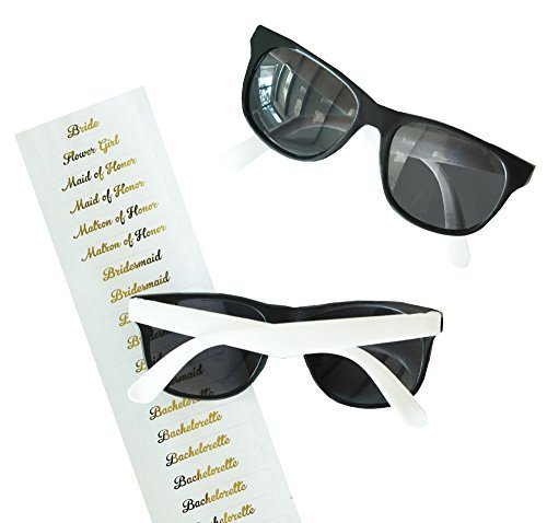 White Bridal Party Sunglasses - Team Bride Sunglasses