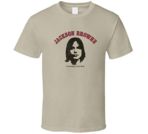 Jackson Browe Vintage Album Cover Saturate Before Using Music Classic T Shirt M Tan (Jackson Browne Rock Elite Best Of Jackson Browne Live)