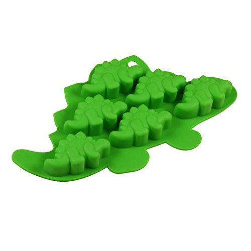 Novelty Mini Silicone Crafting & Candy Making Mold (Green, Dinosaur)