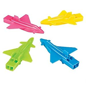 Plane-Shaped Whistles 2 pack