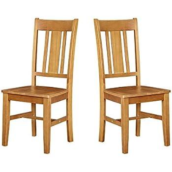 Amazon.com: East West Furniture NFC-LWH-W Norfolk Comedor ...
