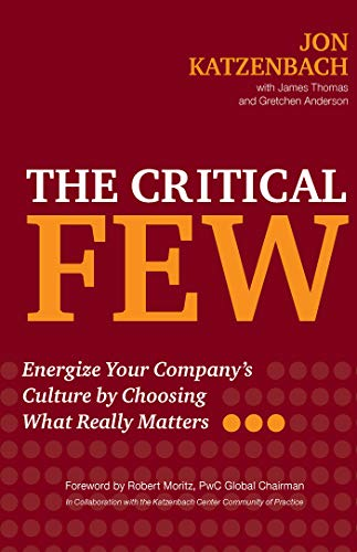 The Critical Few: Energize Your Company's Culture by Choosing What Really Matters by [Katzenbach, Jon R., Thomas, James, Anderson, Gretchen]