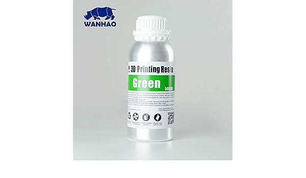 Wanhao 23440 Impresora 3d UV Resin, 500 ml), color verde: Amazon ...