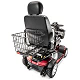 REAR BASKET for Pride, Golden, Drive, Challenger, Go-Go Mobility Scooter with Safety Reflectors