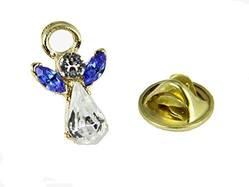 6030605 September Crystal Birth Month Angel Pin Guardian Lapel Brooch Tie Tack (September Birthstone Angel Pin)