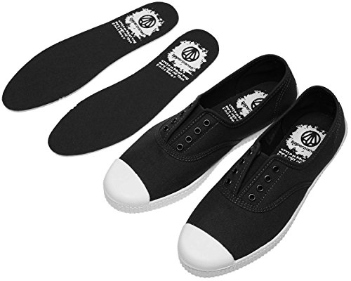 Paperplanes-1350 Casual Low Top Flats Women Canvas Sneakers 1351-Black 7q1QAGMcTR