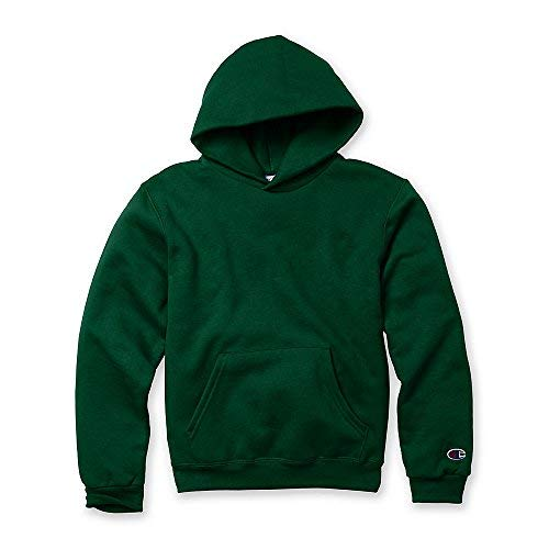 - Champion Youth Double Dry Action Fleece Pullover Hood_Dark Green_L