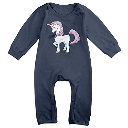 Unisex Bottle Mustard Costumes Adult (Baby Infant Romper Unicorns Horse Long Sleeve Playsuit Outfits Navy 18)