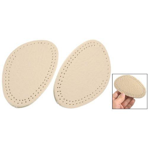 SODIAL(R) Pair Beige Foam Front Pads Cushion Holes Design Shoes Half Insoles